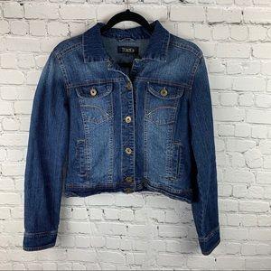 🦩Toxik3 Jean Jacket Cropped Blue Size Large